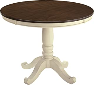 Ashley Furniture Design - D583-15 Whitesburg Casual Round Dining Room Table - Brown/Cottage White