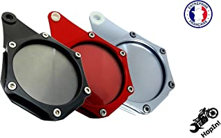 HopIn! L'Original, Porte-Vignette Assurance ou Crit'Air Aluminium Noir étanche Moto/Scooter/Quad