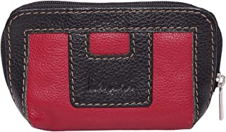 Laveri Small Wallet for Unisex - Leather, Red and Black