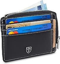 TRAVANDO Geldbeutel Männer Jersey Kartenportmonai Herren Geldbörse Slim Portemonnaie Wallet Portmonaise Geldtasche klein Portmonee RFID Kreditkartenetui Brieftasche Kartenetui Carbon