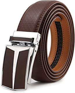 Mens Belt,Bulliant Designer Click Genuine Leather Ratchet Belt For Men, Size-Customized