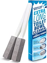 [2 Pack] Pumice Stone Toilet Bowl Cleaner with Extra Long Handle - Limescale Remover - Pumice Toilet Brush - Also Cleans BBQ Grills, Tiles, Tile Grout, & Swimming Pools by Impresa