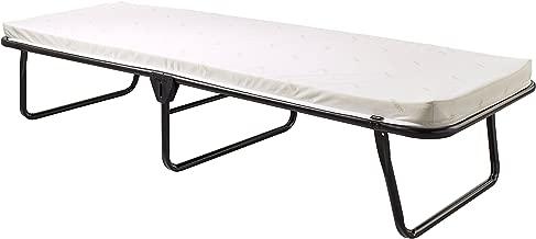 Jay-Be Saver Folding Bed with Airflow Mattress, Regular, Black/White