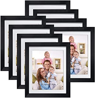 Set Of 3 Black Photo Frame 8x10 Format Wall Art Tabletop Decor Picture Frames