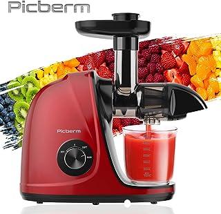 Extracteur de Jus,Picberm Extracteur à Jus de Fruits et Légumes avec 2 Vitesses,Slow Jucier sans BPA avec Moteur Silencieu...