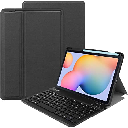 VOVIPO Funda Teclado Español Ñ para Samsung Galaxy Tab S6 Lite 10.4 2020 Inch, Protectora Cover Funda con Desmontable Wireless Teclado SM-P610/SM-P615