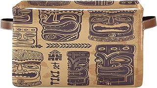 Tropicallife F17 Panier de rangement en tissu avec poignée Motif égyptien vintage Boîte de rangement pliable en toile pour...