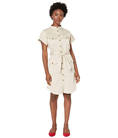 LAUREN Ralph Lauren Petite Self-Tie Shirtdress (Canyon Khaki) Women