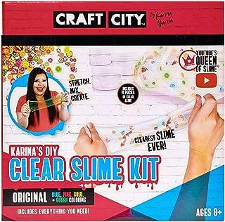 Craft City Karina Garcia DIY Clear Slime Kit | 4 Pack | Pre Made Slime | Ages 8+