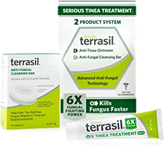 Sponsored Ad - Terrasil Tinea Treatment 2-Product Ointment and Cleansing Bar System with All-Natural Activated Minerals 6X...
