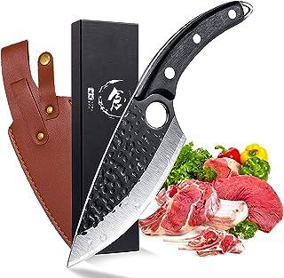 Couteau à désosser Couteau de chef forgé Texture marteau Lame de filetage / couteau de boucher Couteau de cuisine Couteau ...