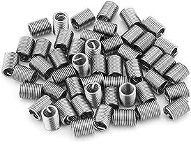 50st roestvrij staal SS304 schroefdraadinserts, spiraalvormige schroefdraadinserts M6 x 1,0 x 2,5 D lengte schroefdraadrep...