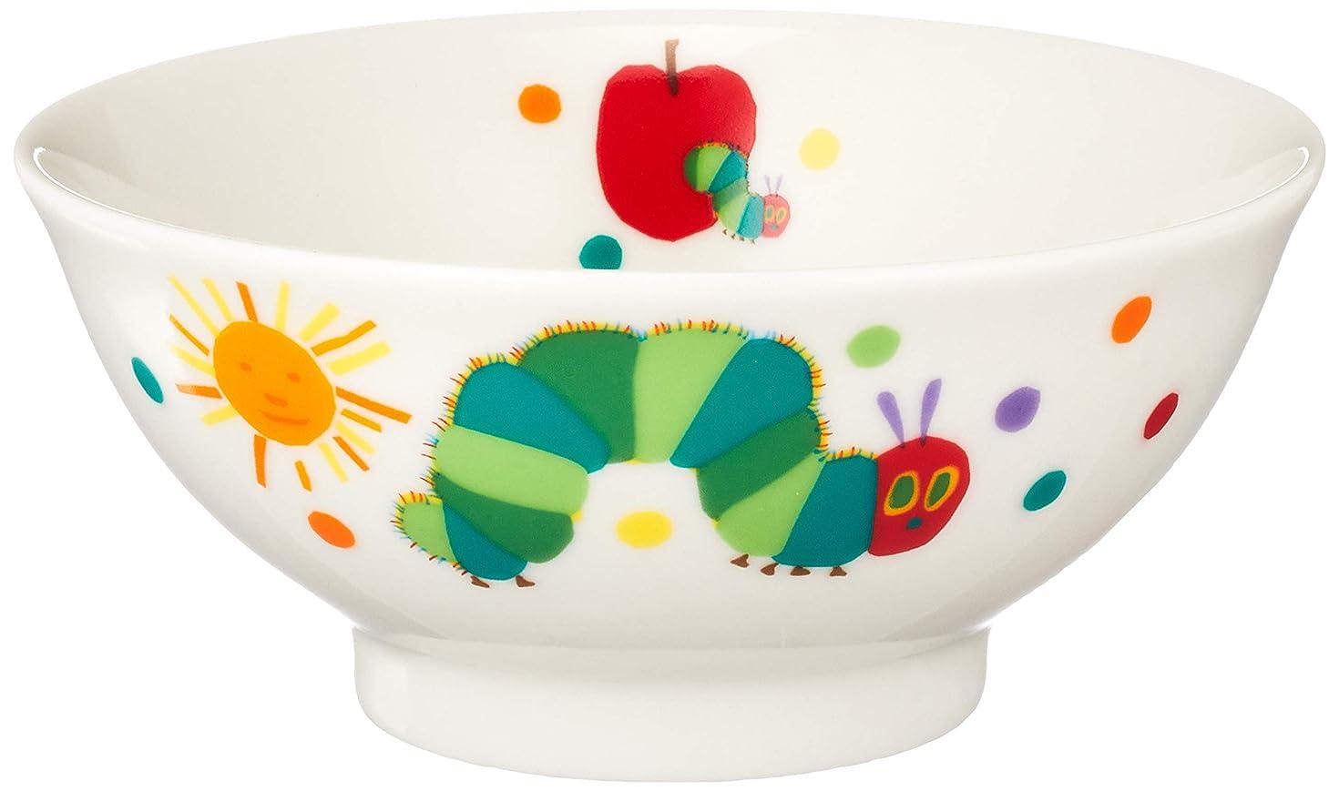 唯一月面平日「 はらぺこあおむし 」 こども用 お茶碗 直径10.5cm 子供用 食器 白 807111