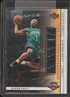 2001 Upper Deck Baron Davis Hornets Game Used Jersey Basketball Card #BD-AS