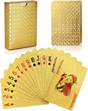 Joyoldelf Luxury 24K Gold Foil Poker Playing Cards - Classic Magic Tricks Tool, Deck Carta de Baralho with Box Good Gift Idea