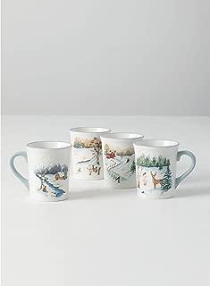 Sullivans Winter Scene Large 20oz Coffee Mugs - Set of 4 (DOT187)