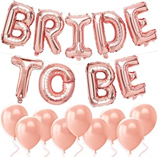 """TOYXE Bachelorette Party Decorations - Bride to Be Balloon Kit - Rose Gold - 16"""" Bride to BE Foil Balloons + 10 Rose Gold ..."""