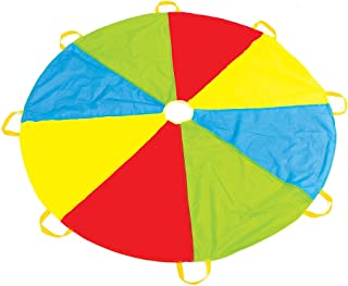 Play Parachute with Handles - New & Improved Design - Multicolored Parachute for Kids
