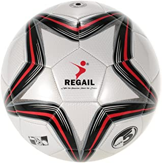 Five-point Star PU Inflatable Durable Football (Synthetic Leather Soft Touch Soccer Balls) for Younger Teenager Game Socce...