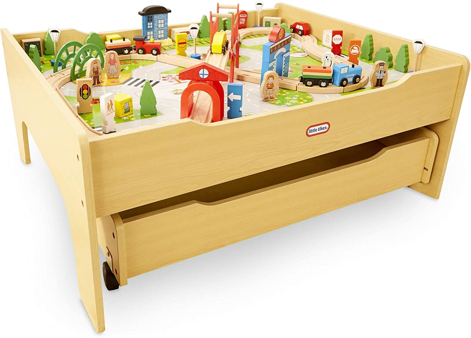 Little Tikes Real Wooden Train and Kids Table Over 80 Sale Detroit Mall special price Set M with