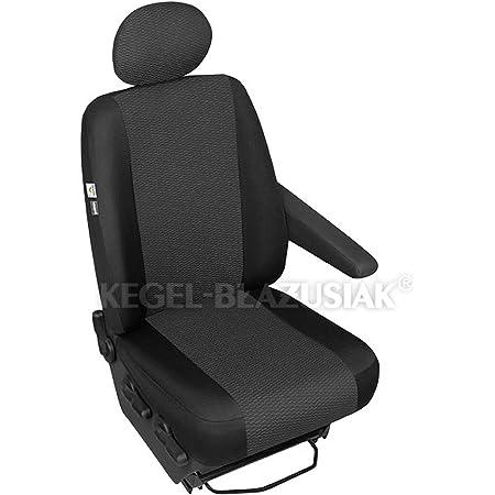 Zentimex Z980379 Sitzbezüge Fahrersitz Einzelsitz Armlehne Rechts Stoff Airbag Kompatibel Auto