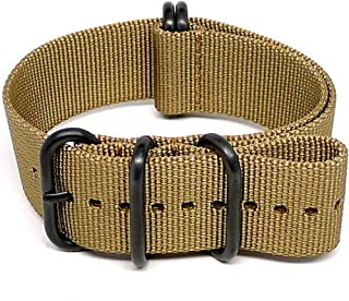 DaLuca Ballistic Nylon Military Watch Strap - Sand (PVD Buckle) : 20mm