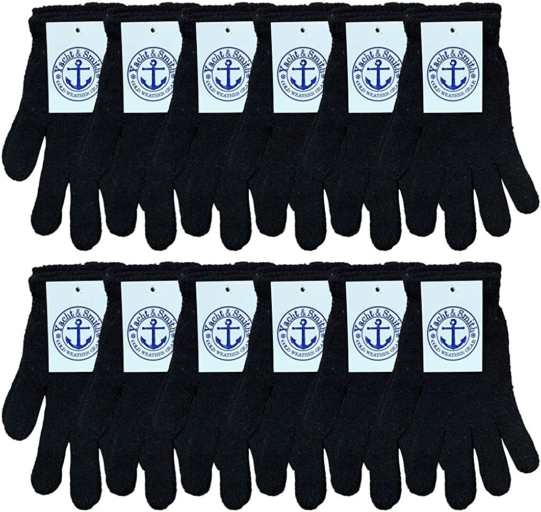 Yacht & Smith Wholesale Bulk Winter Gloves For Men Woman, Bulk Pack Warm Winter Thermal Gloves
