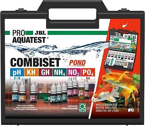 JBL Test de Qualité d'eau pour Bassin, 6 Tests et Accessoires, Bac à Koïs et Bassin de Jardin, PROAQUATEST COMBISET POND