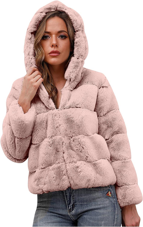 Aritone Clearance!! Coat Jacket Women's Winter Warm Coats Faux Coat Warm Furry Faux Jacket Long Sleeve Outerwear