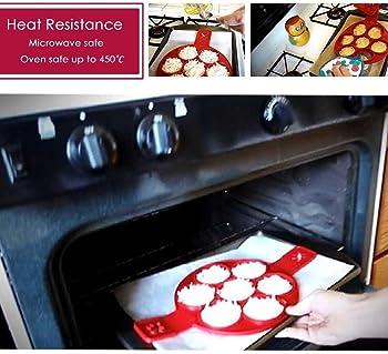 2017 New Upgrade Pancake Molds Silicone 7 Circles Reusable Non Stick Egg Mold Ring pancake Maker by MERRY BIRD