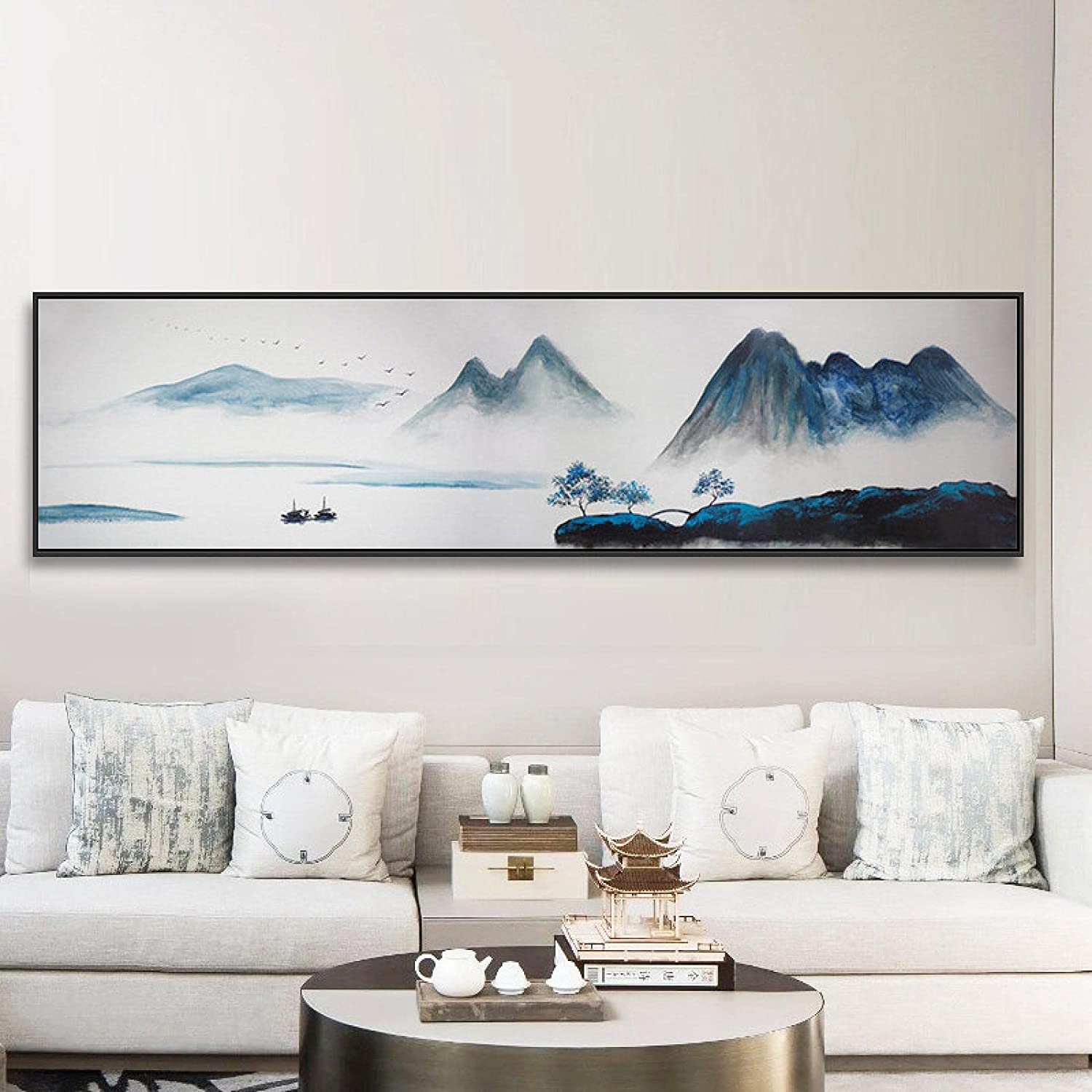 Direct store Canvas Print Style Landscape Posters Spring new work one after another Abstract Zen Mount Painting