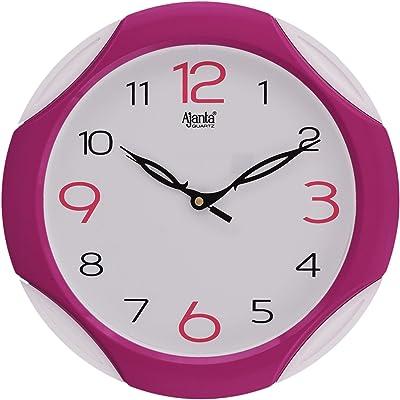 Ajanta - 2117 - Pink Plastic Sweep Clock (28 cm x 28 cm x 3.5 cm, Pink)