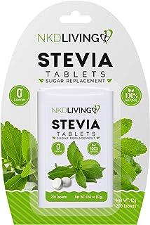 Natural Stevia Sweetener - Sugar Replacement, Natural, No Calorie, Diabetic, Sugar Free (200 Tablets)