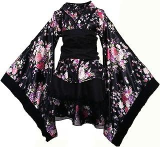 OULII Lolita Kimono, Japanische Cosplay Kimono Kostüm für