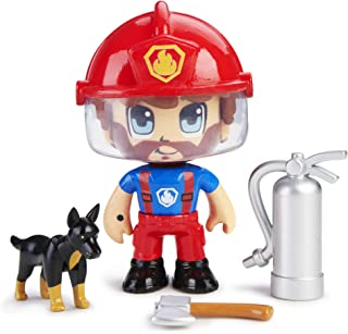 Pinypon Action - Figura Emergencia con Perro, Multicolor (Famosa 700015151)