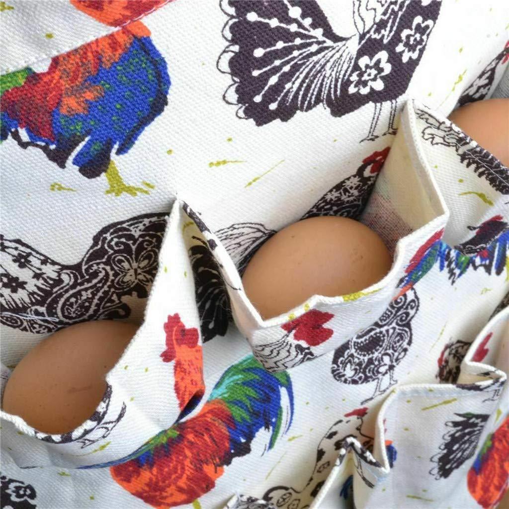 Farmhouse Kitchen Home Egg Collecting Apron Antifouling Cotton 12 Pockets US