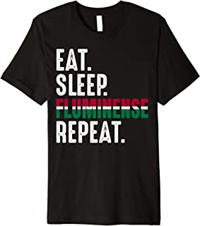 Fluminense Funny Eat Sleep Repeat Soccer Brazil Premium T-Shirt