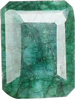 Real Gems Piedra Preciosa Suelta de Esmeralda Verde Natural, Forma de Esmeralda 66,50 Quilates Piedra Suelta de Esmeralda ...