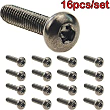 MOEBULB 16pcs/Set Anti-Theft Screws Replacement of Ford FL3Z-9928408-AB Truck Bed Cargo Tie Down Brackets 4-Pack for Ford 2015-2018 F150 f250 f350 & Raptor Bed Load Hook Reinforcement Panel