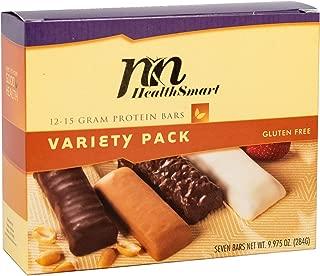 HealthSmart - High Protein Diet Bar - Smooth Variety Pack - 12-15g Protein - Low Calorie - Gluten Free (7/Box)