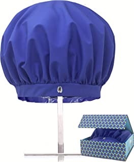 TURBELLA The Only Shower Caps with Waterproof Breathable Technology to Release Humidity | Keeps Long, Curly or Straight Hair Dry + Styled | Adjustable | Washable | Swarovski | Made in USA | GIFT BOX