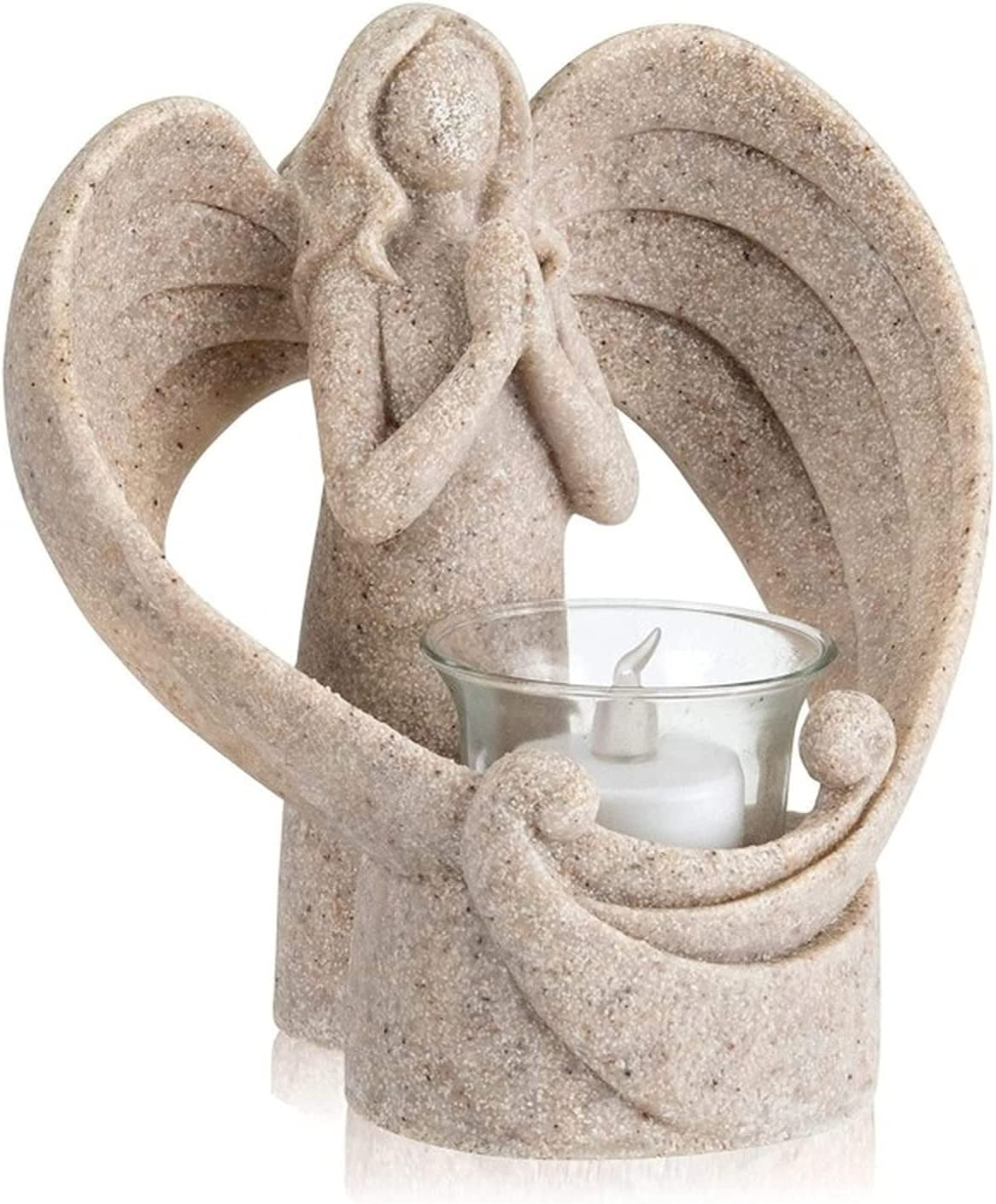 JONJUMP Angel Candlestick Resin Candle Holder Statue Popularity Price reduction
