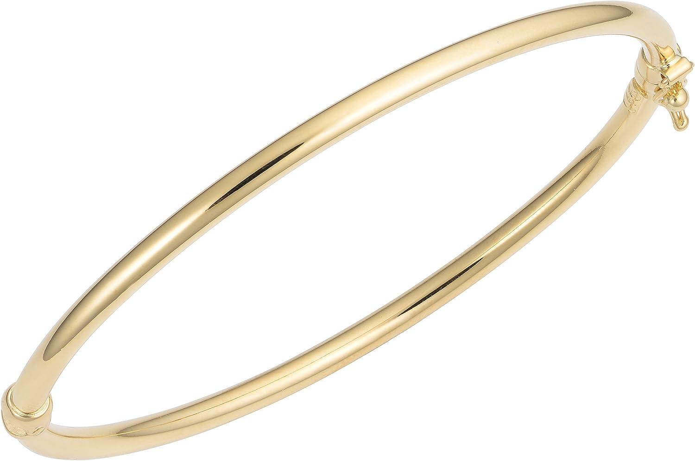 Kooljewelry 18k Yellow Gold Bangle Bracelet