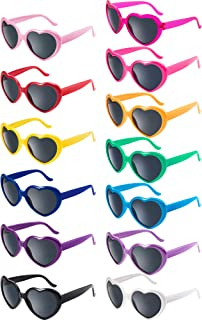13 Pairs Heart Kids Sunglasses Neon Color Heart...