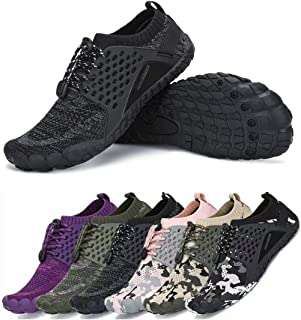 Men's Women's Minimalist Trail Running Barefoot Shoes | Wide Toe Box Quick Drying Beach Sneakers