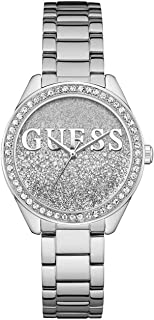 Guess Women's Silver Dial Stainless Steel Band Watch - GUE_W0987L1