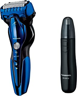 パナソニック ラムダッシュ メンズシェーバー 3枚刃 お風呂剃り可 青 ES-ST8Q-A + エチケットカッター セット