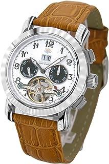 [ジョン・ハリソン]John Harrison 裏ギミック・ビッグテンプ付き 多機能表示手巻式 メンズ腕時計 JH-044WB...