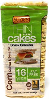 Suzie's Thin Cakes, Corn Quinoa And Sesame, 4.6 Ounce (Pack of 12) (Packaging may vary)