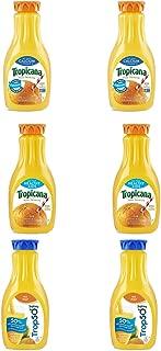 LUV BOX - Variety Tropicana Pure Premium Juice Pack 52oz Plastic Bottle, 6 Per Case Calcium Orange Juice , Trop 50 Orange Juice , Orange Juice Healthy Kids
